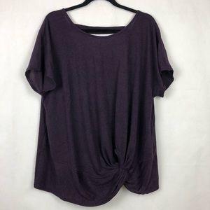 bfbc6b3507a6a8 Siren Lily Top Knit Front Purple Plus Size 3X